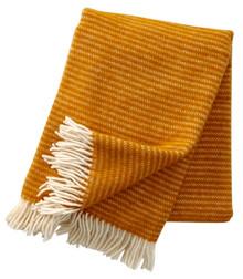 Brand New Klippan 100% Eco Lambs Wool Mustard Ralph Blanket 130cm x 200cm