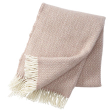 Brand New Klippan 100% Lambs Wool Nude Stella Blanket 130cm x 200cm