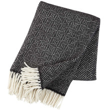 Brand New Klippan 100% Lambs Wool Samba Black Blanket 130cm x 200cm