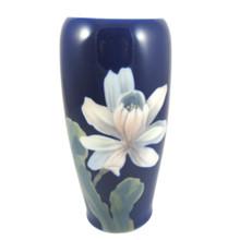 17cm Vintage Royal Copenhagen Hand Painted Star Magnolia Vase