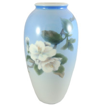 27.4cm Vintage Royal Copenhagen Hand Painted Apple Blossom Vase #2