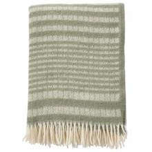 Brand New Klippan 100% Eco Lambs Wool Roy Green Blanket 130cm x 200cm