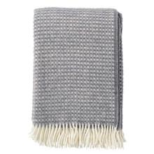 Brand New Klippan 100% Eco Lambs Wool Diamonds Warm Grey Blanket 130cm x 200cm
