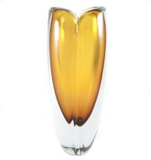 Vintage Kaj Franck for Nuutajarvi Notsjo 18cm Art Glass Vase Finland 1958.