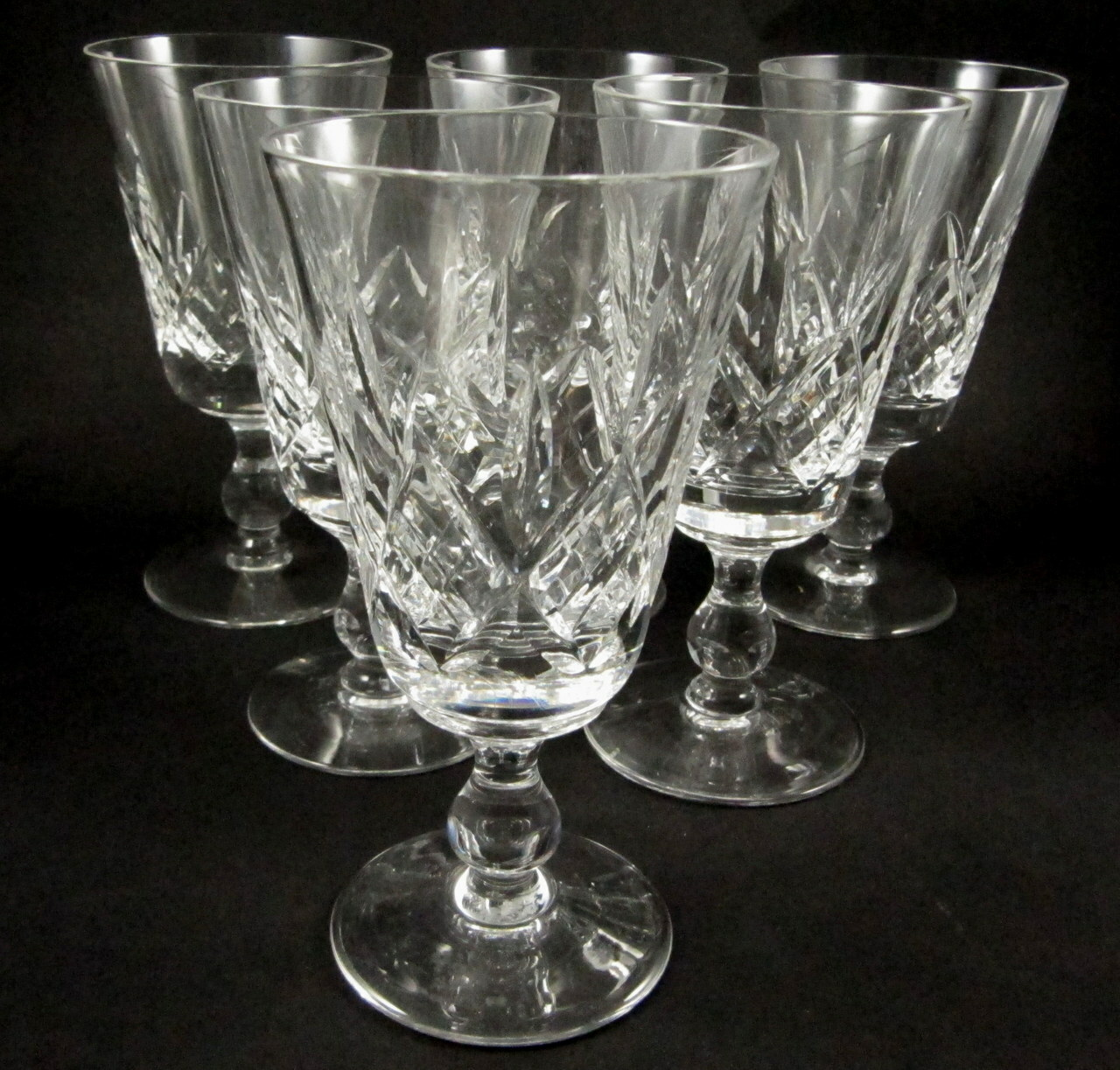 6 Vintage Stuart Crystal Glengarry Red Wine Glasses In Stock