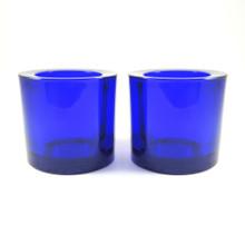2 Vintage Iittala Blue Cobalt Blue Kivi Tealight Votives Pre 2003