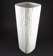 Vintage German Thomas Rosenthal White Arcta Vase Richard Scharrer 1968
