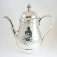 Danish Art Deco Leaf & Berry Cohr ATLA Silver Plate Coffee or Water Pot