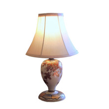 Vintage Danish Studio Art Pottery Lamp with new pleated shade