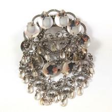 Vintage 6.5cm 830S Silver Solje Pin Wedding Brooch