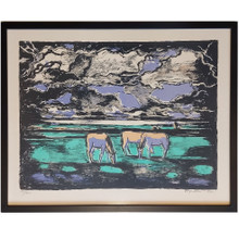 Thorvald Hagedorn-Olsen Horses Lithograph