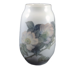 1924-1934 Vintage Royal Copenhagen Hand Painted Rose Vase