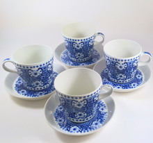 4 Vintage Arabia Ali Cups and Saucers Raija Uosikkinen