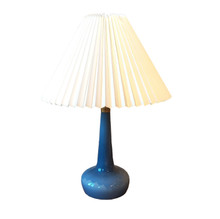 Vintage Table Lamp Le Klint 311 in Pale Blue with Danish pleated shade