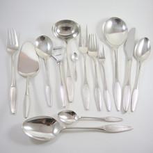 Vintage 1950's Danish Frigast Kongelys Cutlery set for 12 people Henning Seidelin