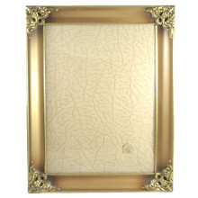 Vintage Ornate Jyden Danish Brass Frame Convex Glass photo size 24cm x 18cm #2