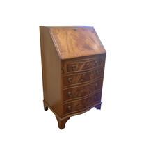 Vintage Petite Danish Writing Bureau / Secretaire in Walnut with 4 drawers