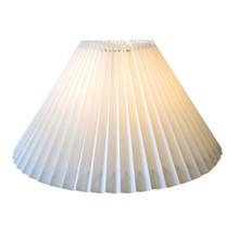 21cm New White Pleated Danish Type Shade suit Mid Century Lamps