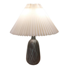 Vintage Mid-Century Danish Pottery Lamp with Sgraffito Design