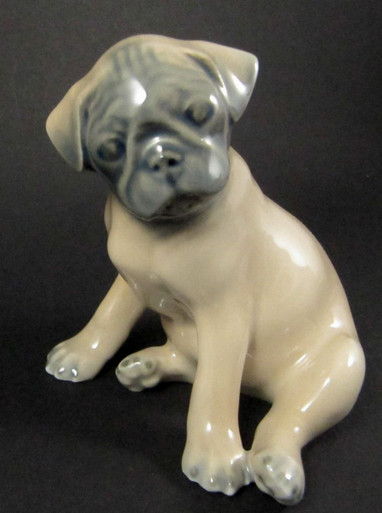 Vintage Danish Royal Copenhagen Pug puppy Dog Figurine Theodor Madsen