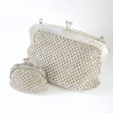 Vintage Australian Rhinestone Glodyme Glomesh Evening bag and Purse