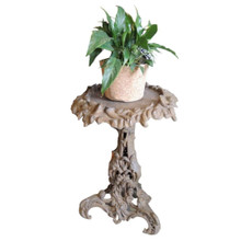 Heavy Cast Iron Garden Side Table or Plant Stand
