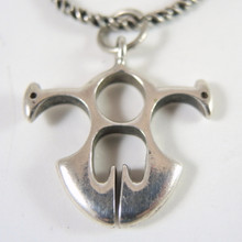 Vintage Sterling Silver Zoomorphic Celtic Pendant on Chain