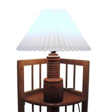 Vintage Stoneware Danish Belka Studio Art Pottery Lamp with new pleated shade