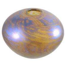 Australian Iridescent Art Glass Vase by Richard Morrell