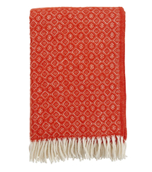 Brand New Klippan Lambs Wool Blanket Havanna - Chili
