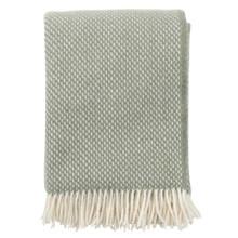 Brand New Klippan Lambs Wool Blanket Preppy Dusty Green