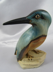Danish Bing and Grondahl Dahl Jensen Kingfisher Stoneware Figurine