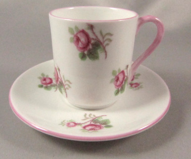 Vintage Miniature Shelley Cup and Saucer Bridal Rose / Rose Spray