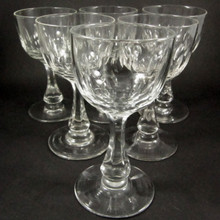 6 Danish Holmegaard Crystal Derby red wine glasses