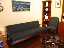 T.H Brown day bed and two matching arm chairs