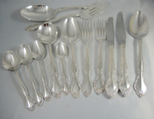 Vintage Oneida Community Silver Plate 8 Person Affection Cutlery Set