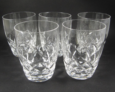 5 Vintage Stuart Crystal Beau 200ml barrel tumblers or glasses