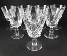 8 Vintage Stuart Crystal Glengarry Cambridge wine glasses