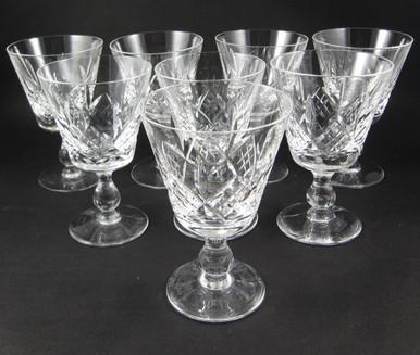 8 Vintage Stuart Crystal Glengarry Cambridge wine glasses