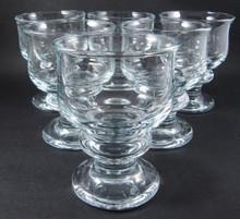 6 Vintage Holmegaard Tivoli white wine glasses Per Lutkin 1968