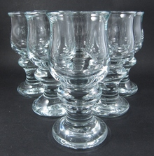 6 Vintage Holmegaard Tivoli sherry / port glasses Per Lutkin 1968