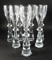 Vintage Holmegaard Prince  8 Liqueur Schnapps Glasses Bent Severin 1960's