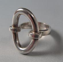 Vintage Hans Hansen Sterling Silver Modernist Ring Bent Gabrielsen
