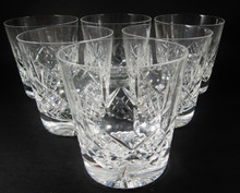 6 Vintage 250ml Stuart Crystal Glengarry Cambridge old fashioned whisky tumblers
