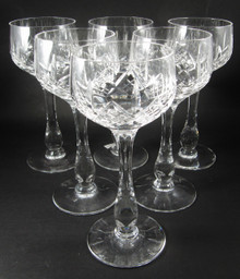 6 Vintage Stuart Crystal Glengarry Cambridge Hock Glasses