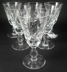 6 Vintage Stuart Crystal Glengarry Cambridge liqueur glasses