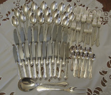Vintage Danish Cohr silver plate cutlery flatware set Ambrosius 10 person