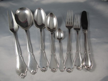 Vintage Danish Cohr silver plate cutlery flatware set Ambrosius 12 person