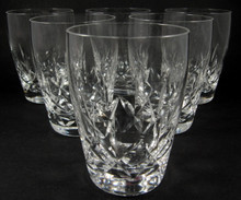 6 Vintage Stuart Crystal Carlingford Whisky Tumblers or Glasses