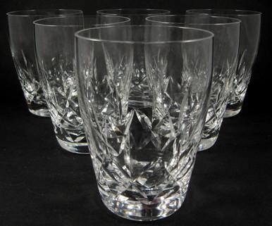 6 Vintage Stuart Crystal Carlingford Whisky Tumblers or Glasses